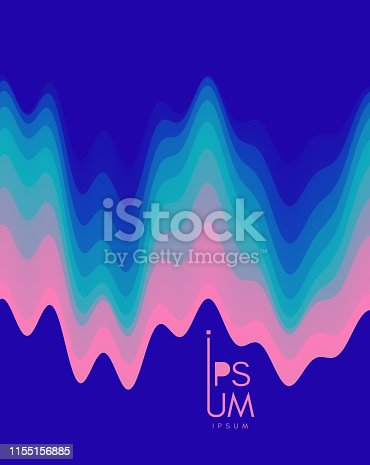 Aurora Borealis. Abstract wavy background with modern gradient colors. Trendy liquid design. Vector illustration for banners, flyers and presentation.