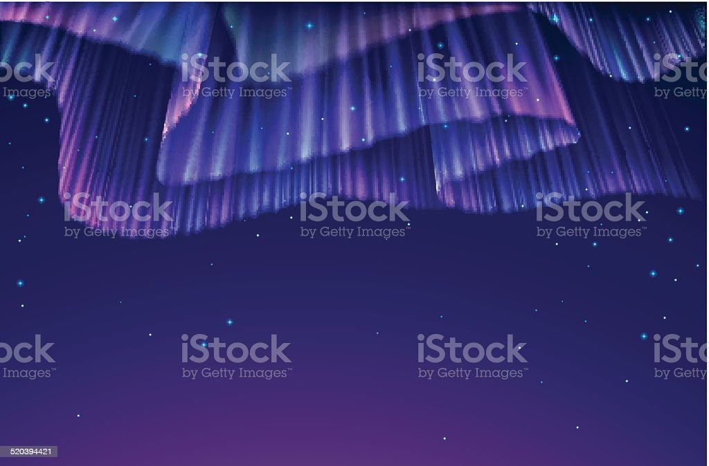 Aurora - ilustração de arte em vetor