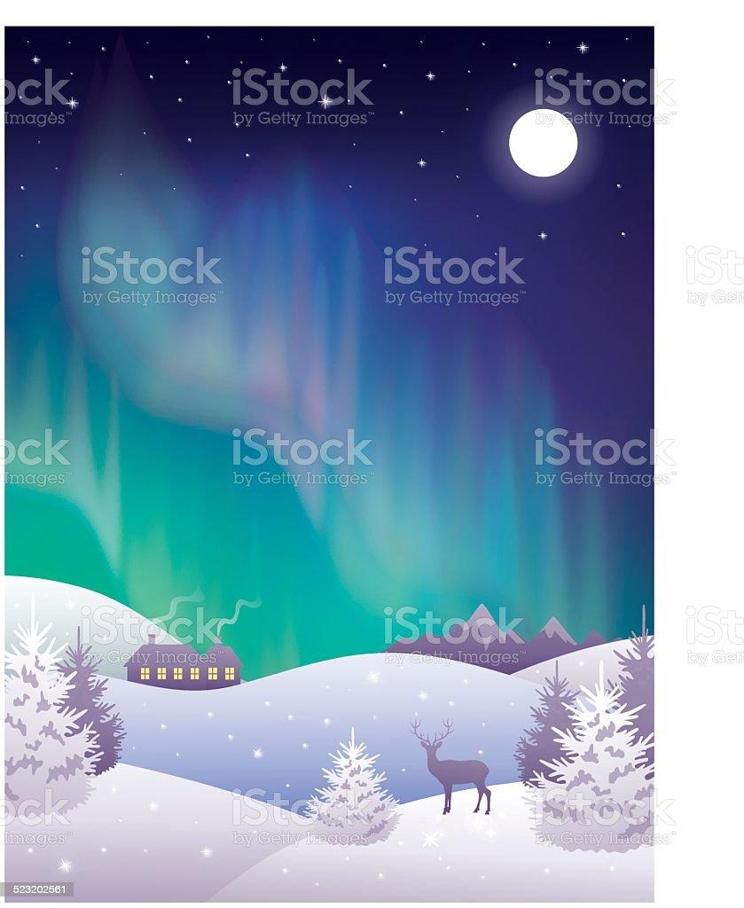Aurora. - ilustração de arte em vetor