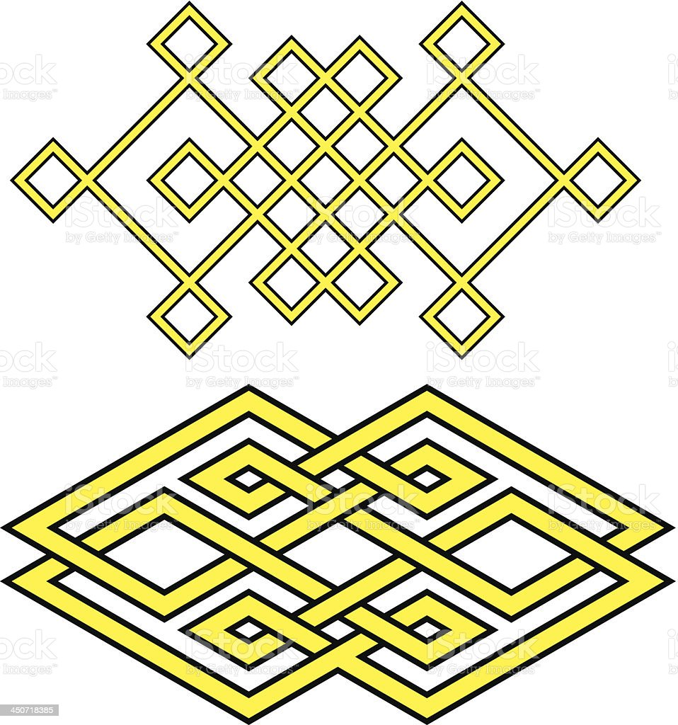 Auspicious knot vector art illustration