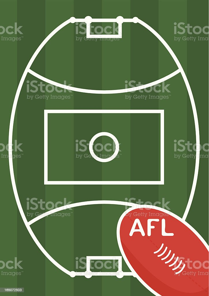 Aussie Rules Oval vector art illustration