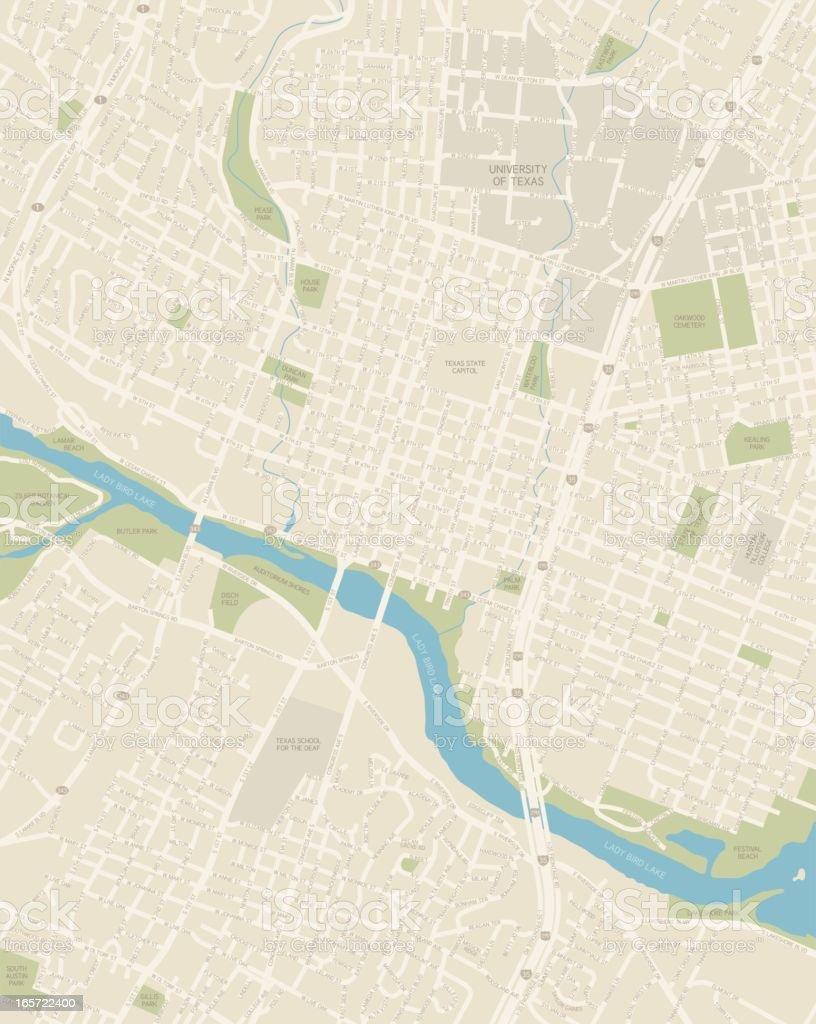 Stadtplan Von Der Innenstadt Von Austin Texas Stock Vr Art und ... on