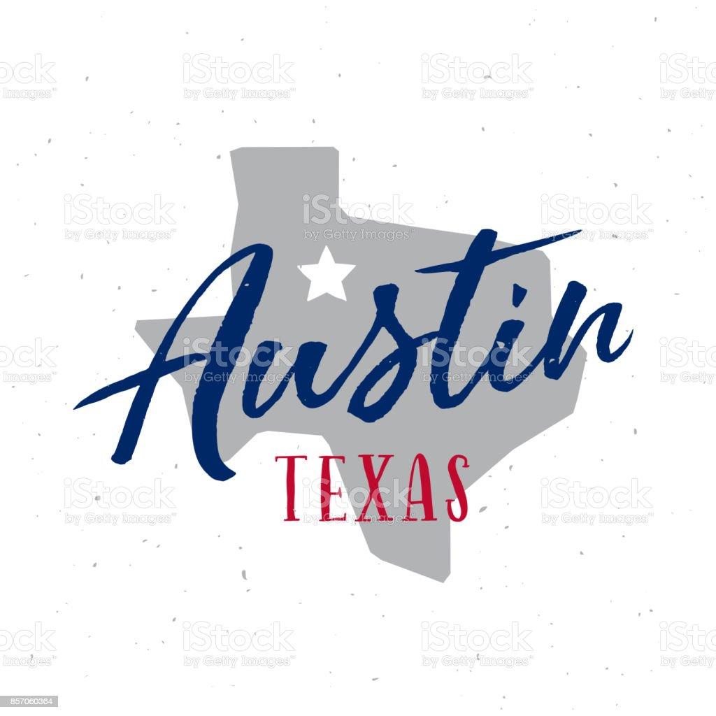Austin Texas t-shirt design. Vector vintage illustration. vector art illustration