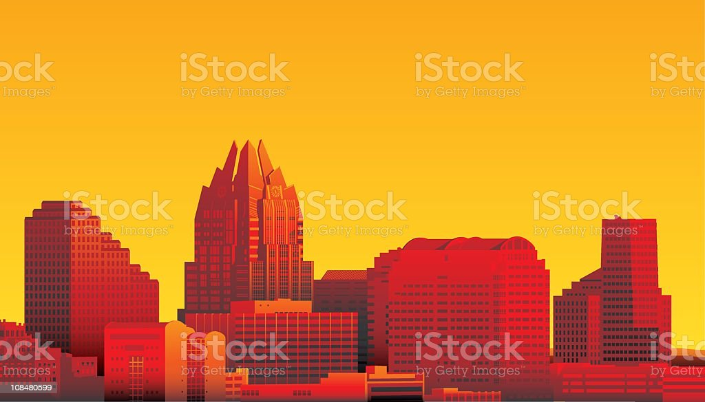 Austin, Texas vector art illustration