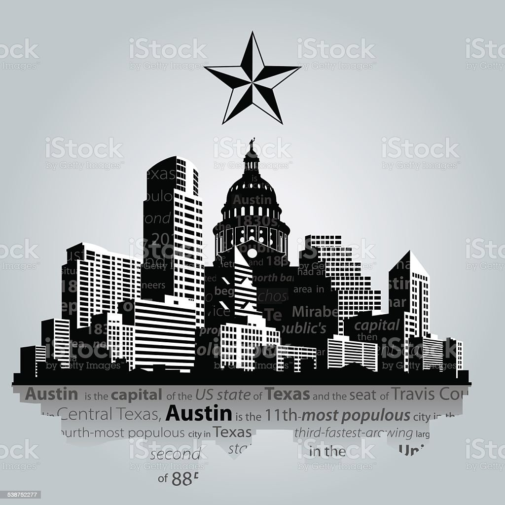 Austin vector art illustration