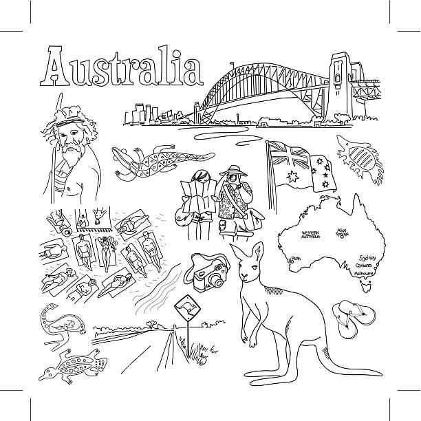 Australia 1 vector art illustration