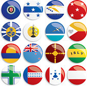 Australia and Oceania flags buttons