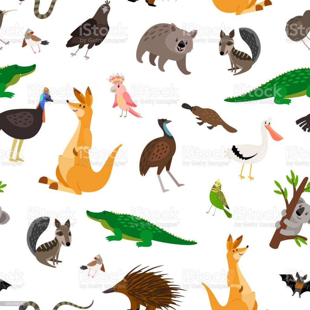 Ilustración de Patrón De Animales De Australia y más banco de ...