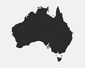 istock Australia blank map. Australian background. Map of Australia isolated on white background. Vector illustration 1097864040