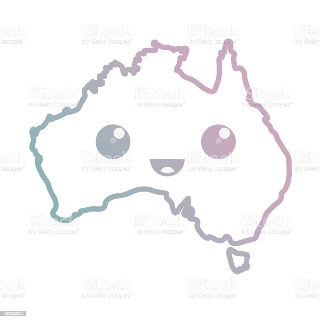 australia country map icon vector art illustration