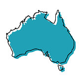 australia country map icon
