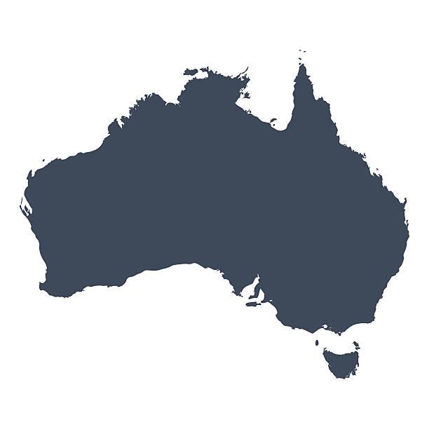 bildbanksillustrationer, clip art samt tecknat material och ikoner med australia country map - australia