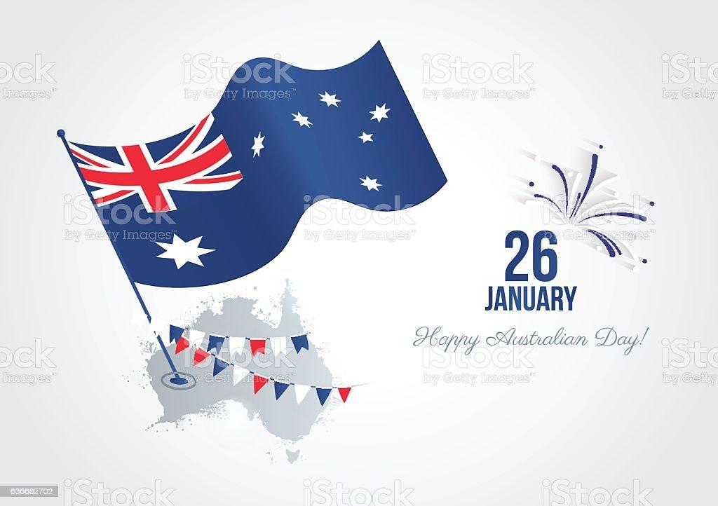 Australia Day greeting card. 26 january. ベクターアートイラスト