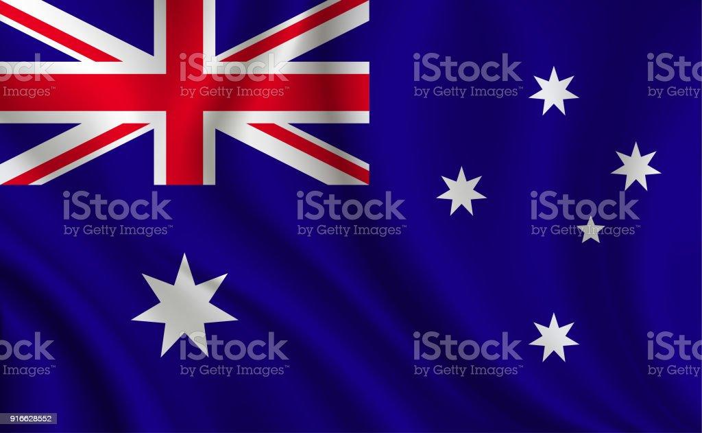 オーストラリア国旗の背景 ベクターアートイラスト