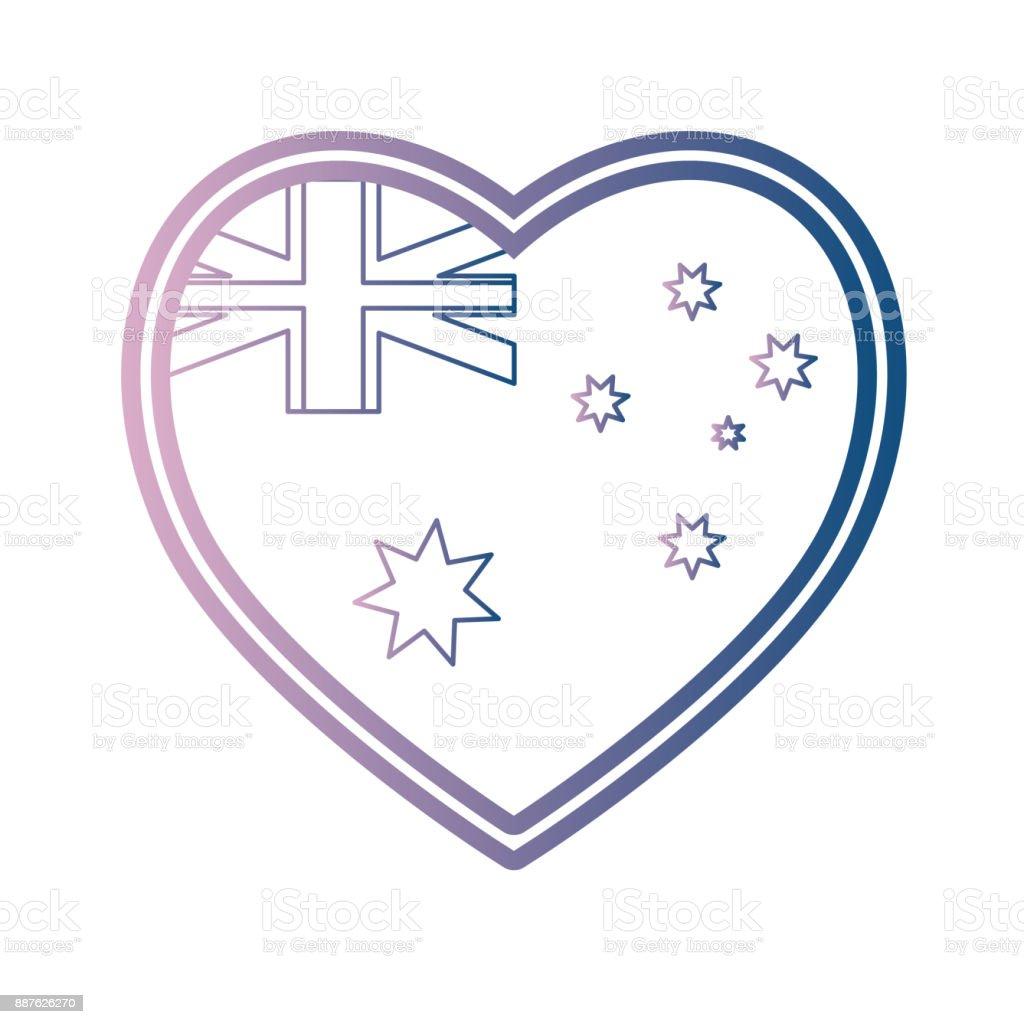 australia flag design vector art illustration