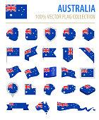Australia - Flag Icon Flat Vector Set