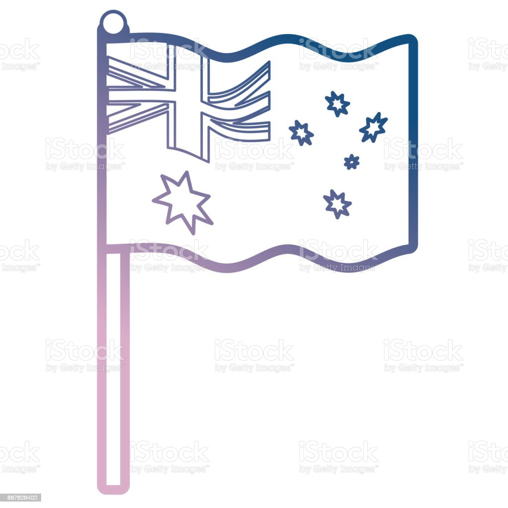 australia flag icon image vector art illustration