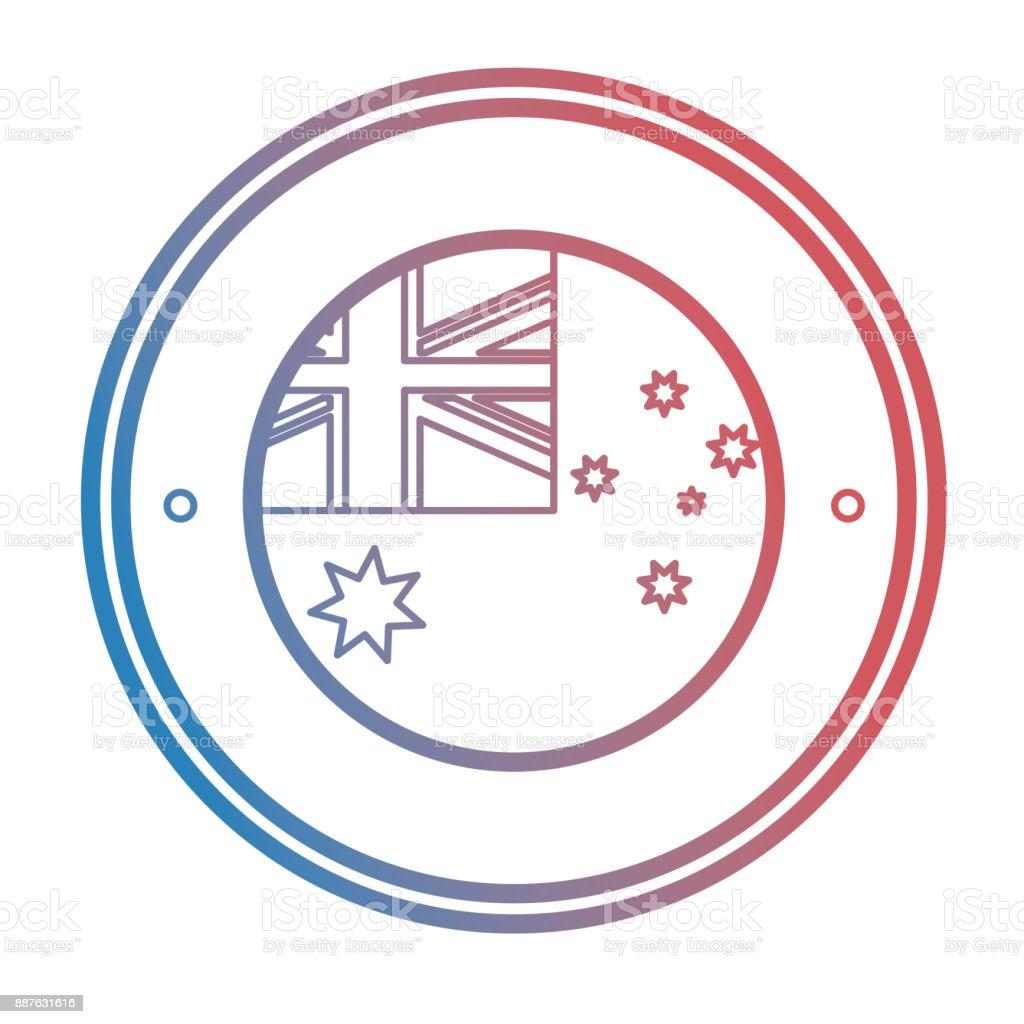 australia flag icon vector art illustration