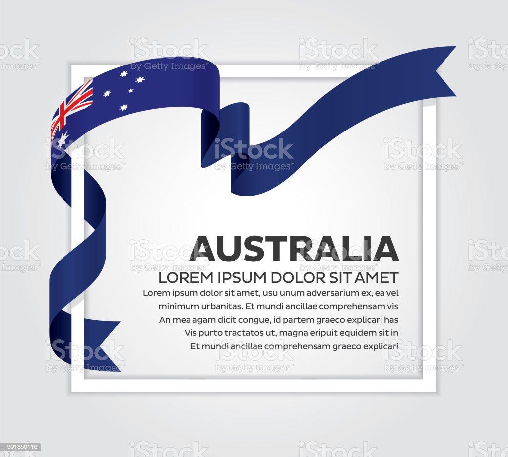 白い背景の上のオーストラリアの旗 ベクターアートイラスト