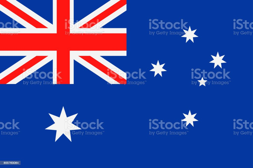 オーストラリアの旗のベクトル フラット アイコン ベクターアートイラスト