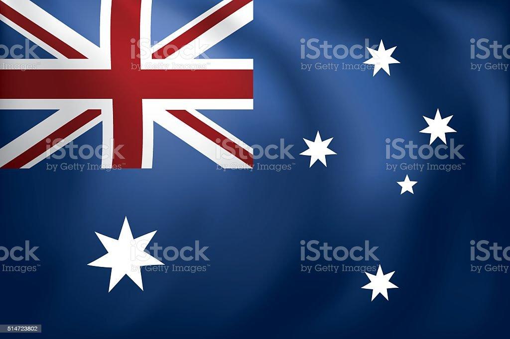 オーストラリア国旗 ベクターアートイラスト