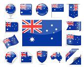 Australia Flag Vector Set