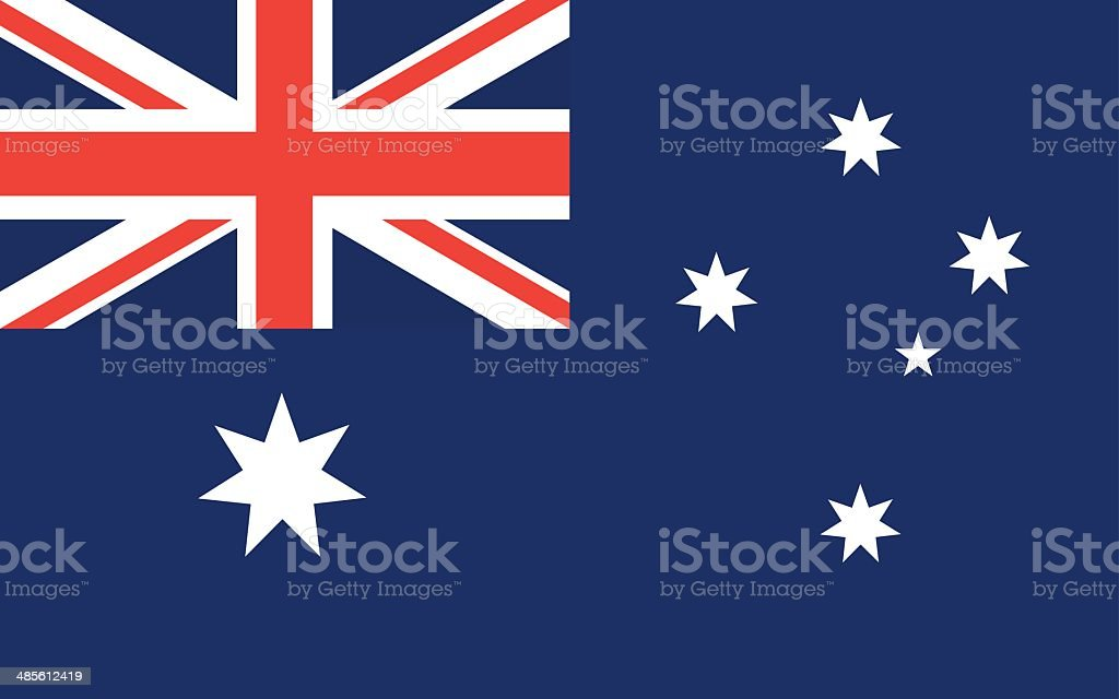 australia flag vector vector art illustration