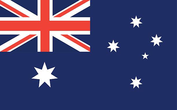 stockillustraties, clipart, cartoons en iconen met australia flag vector - zuid
