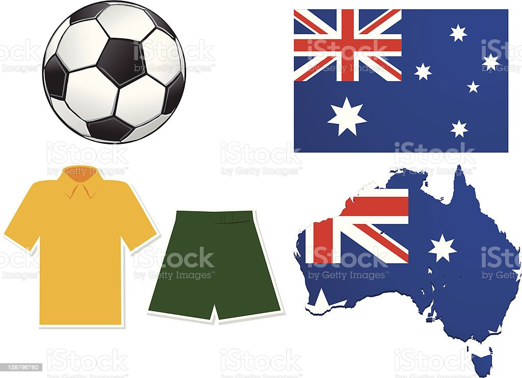 Australia Football royalty-free stock vector art