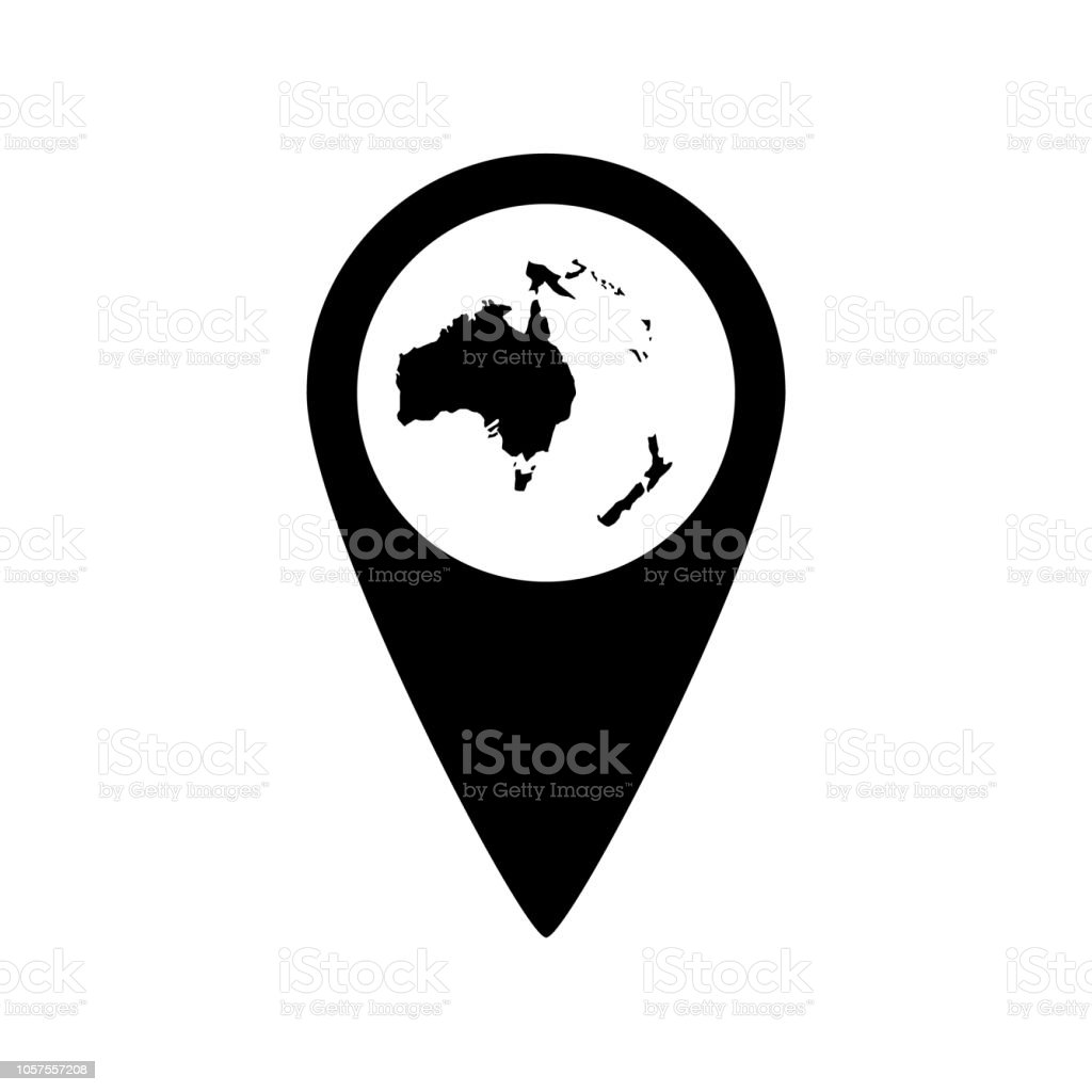Australia Icon On White Background Stock Vector Art More Images Of
