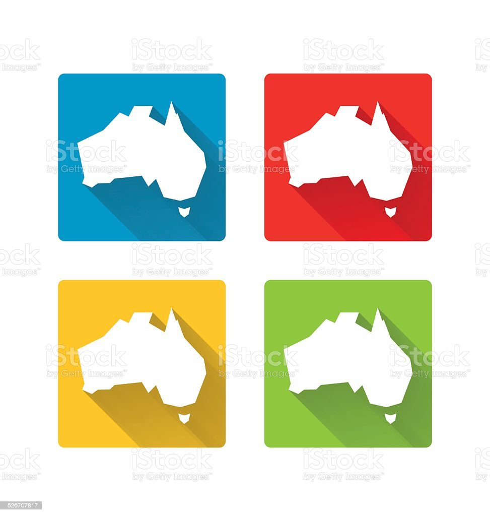 Australia icons vector art illustration