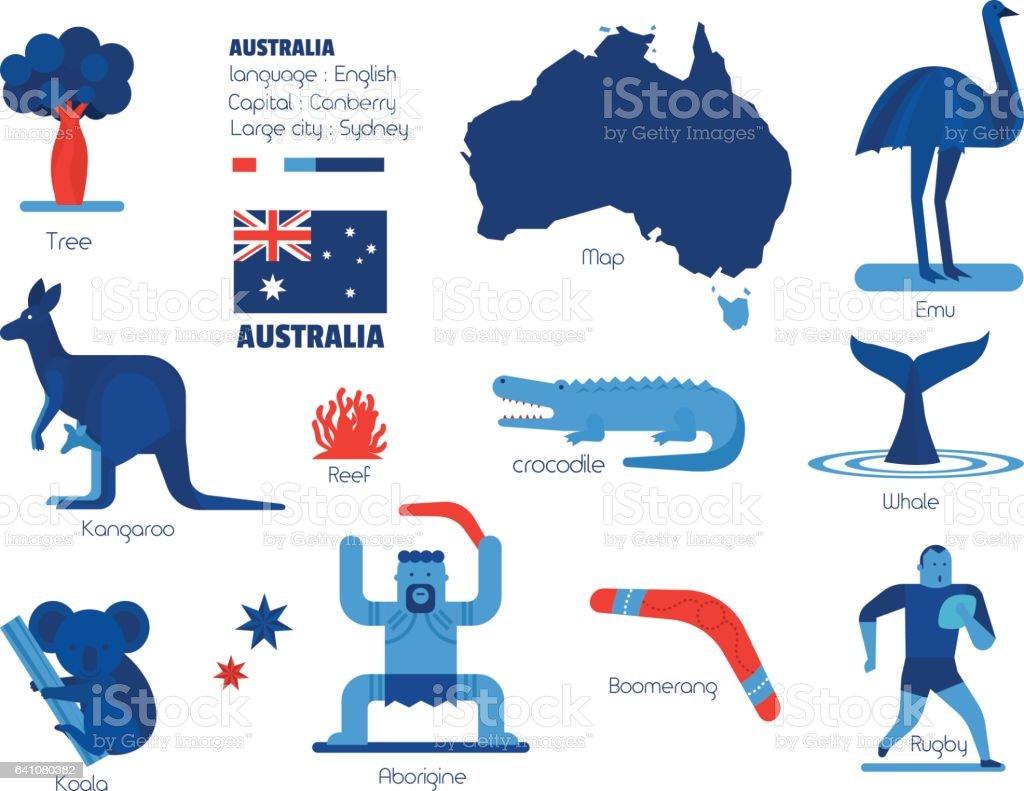 Australia info-graphic elements, Vector illustration. vector art illustration