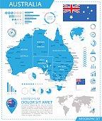 Australia - infographic map - Illustration
