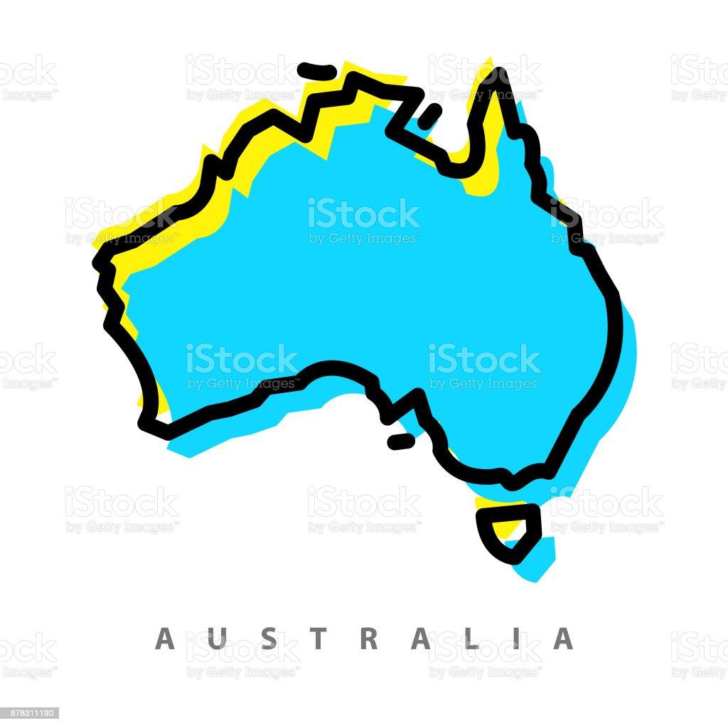 オーストラリア地図イラスト アメリカ合衆国のベクターアート素材や