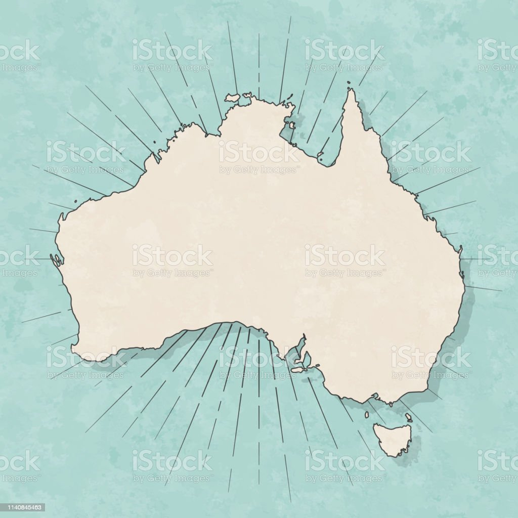f5206f7911 Australia Map In Retro Vintage Style Old Textured Paper Stock ...