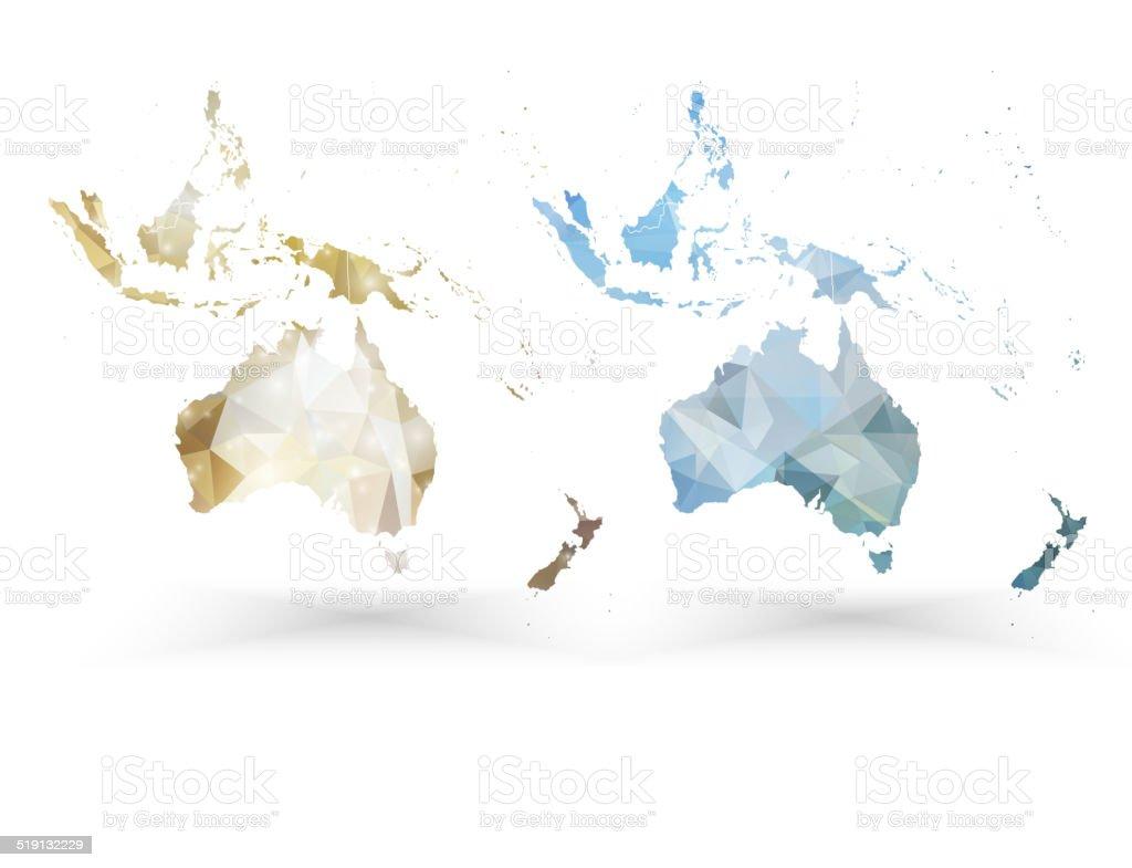 Australia Map Template.Australia Map Template Triangle Design Vector Illustration Stock