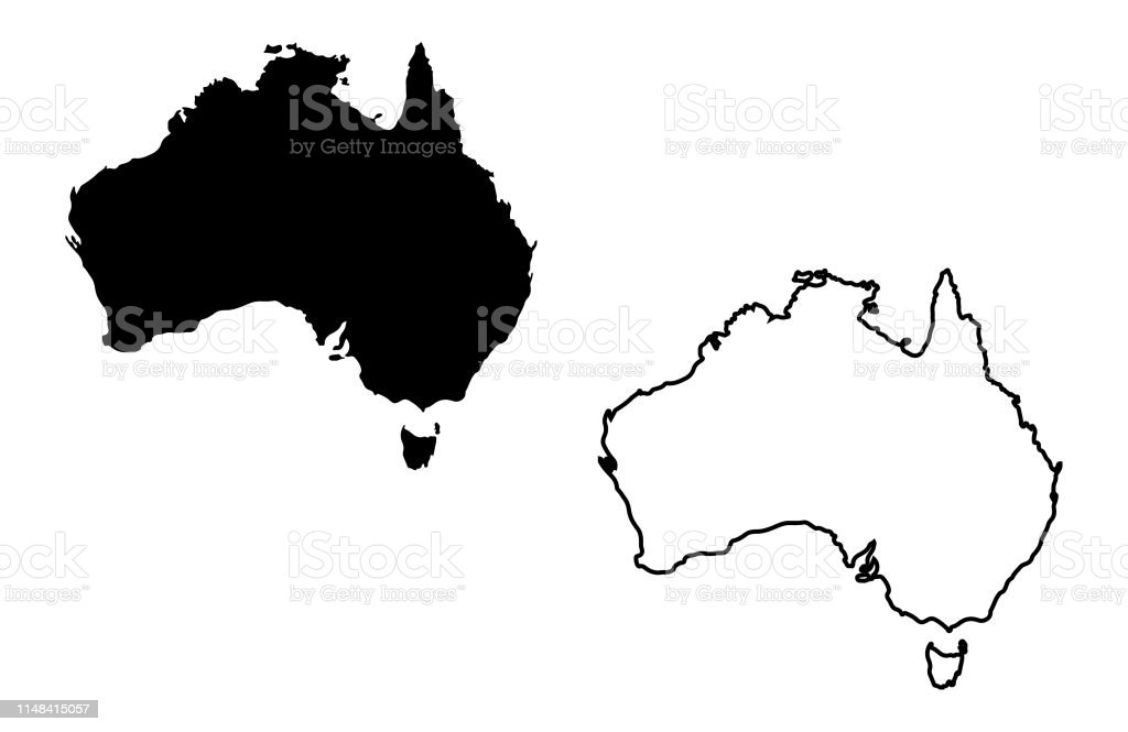 Australia Map Vector.Australia Map Vector And Australia Map Outline Vector Stock
