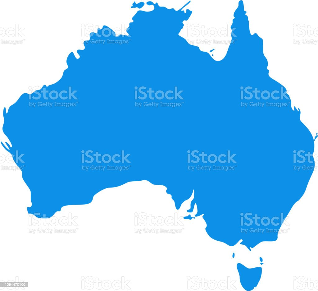 Australia Map Vector.Australia Map Vector Illustration Silhouette Australian Continent