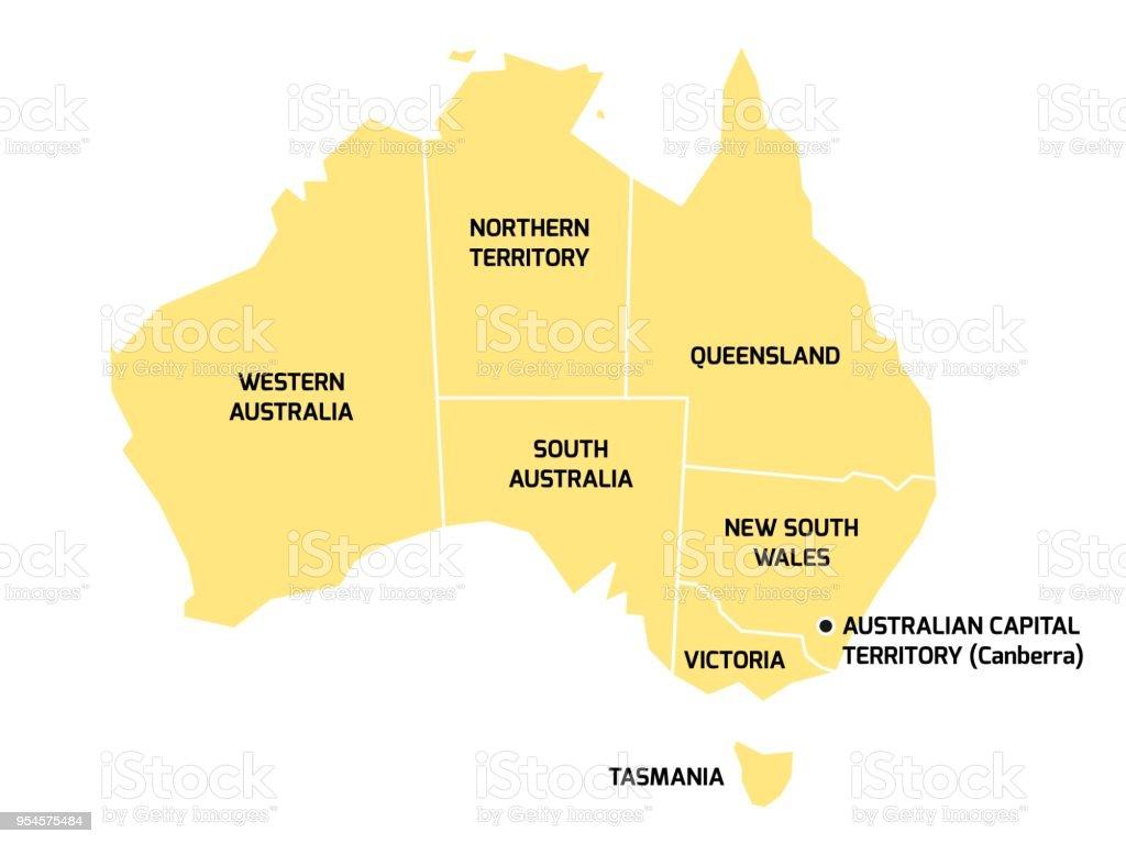 州と準州とオーストラリア地図 -...