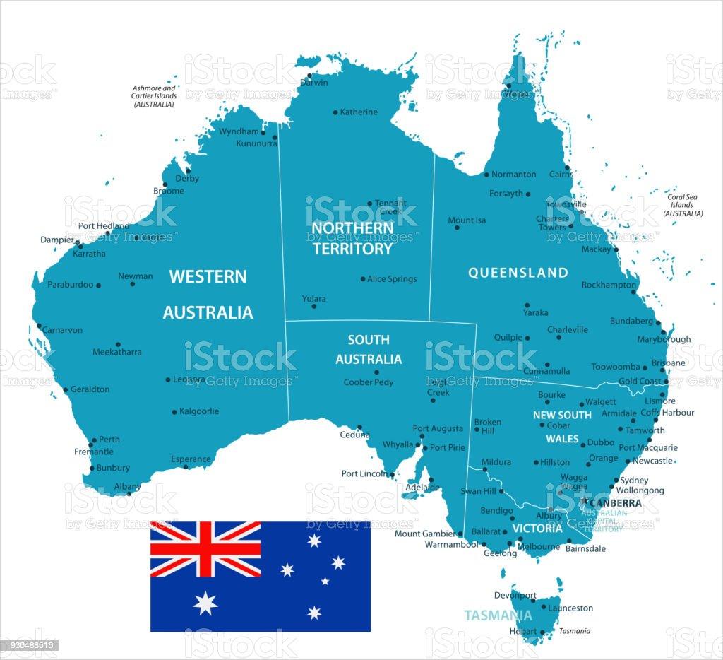 Karta Australien Adelaide.11 Australien Murena Isolerade 10 Vektorgrafik Och Fler Bilder Pa