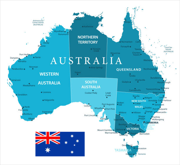 31 - Australia - Murena Spot Isolated 10 vector art illustration