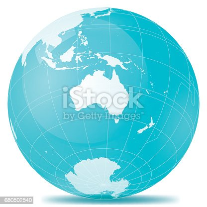 istock Australia Planet Earth Blue White 680502540