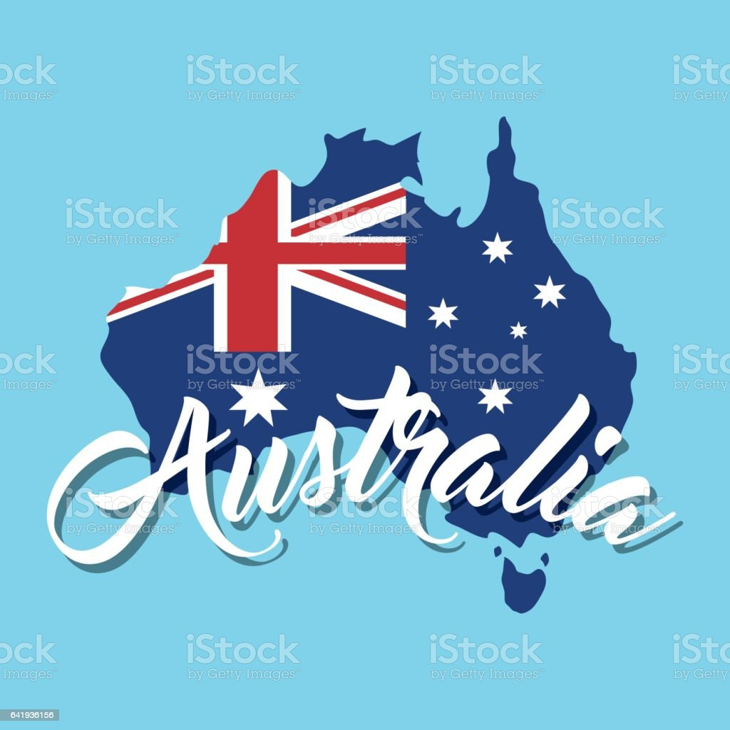australia related image vector art illustration