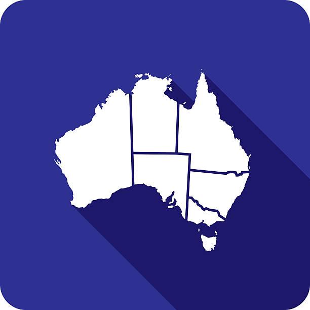 australia territories icon silhouette - western australia stock illustrations