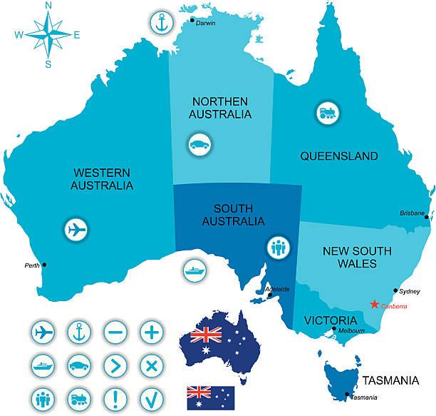 , австралия - lightning stock illustrations
