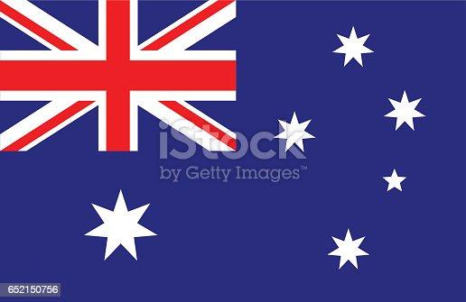 Vector of nice Australian flag.