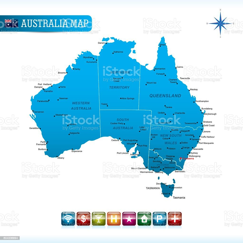 australia vector map royalty free australia vector map stock vector art more images