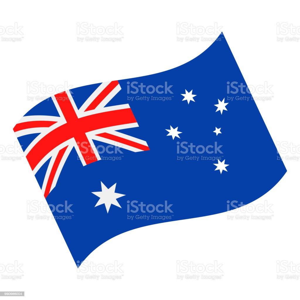 オーストラリア - フラグ ベクトル フラット アイコンを振って ベクターアートイラスト