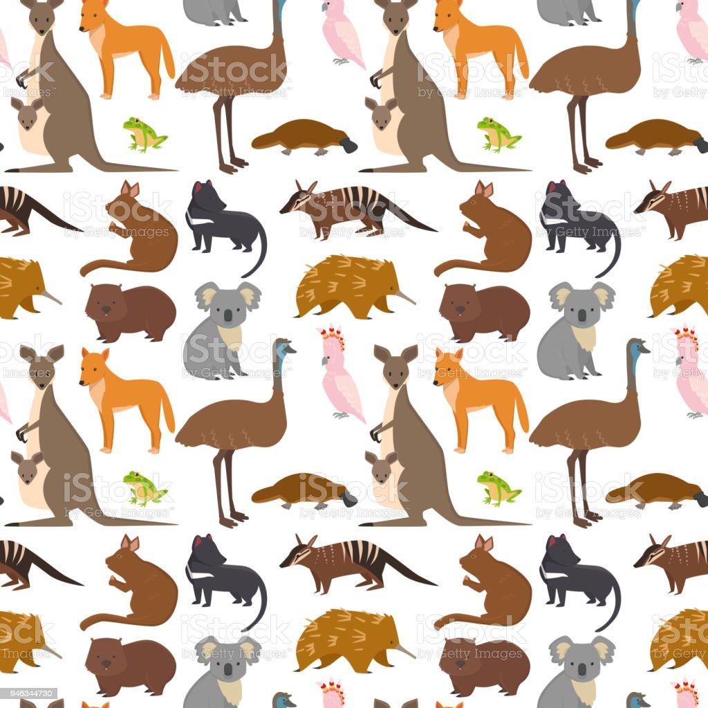 Ilustración de Animales De Australia Dibujos Animados Ilustración De ...