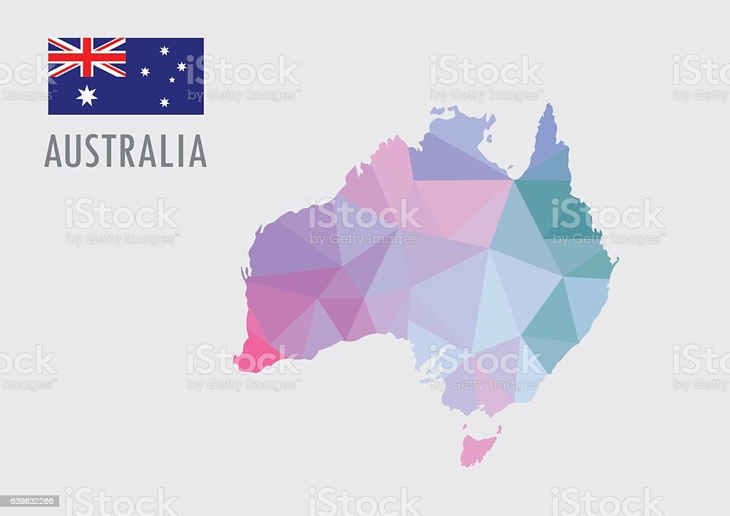 Australia world map with pastel polygonal style arte vectorial de australia world map with pastel polygonal style australia world map with pastel polygonal style arte gumiabroncs Images